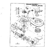 Craftsman 217585431 engine assembly diagram
