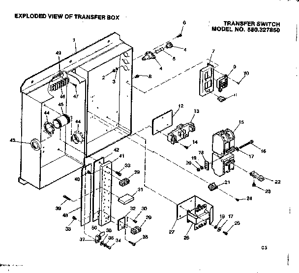 Craftsman  Remote-Controlled Transfer Switch  Transfer box