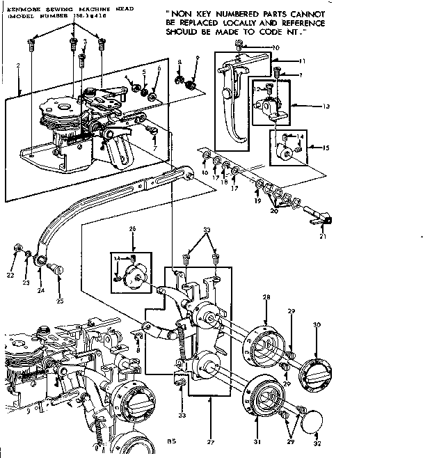 Kenmore 15816410 zigzag guide assembly diagram