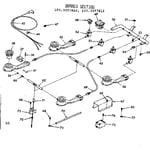 Kenmore 1033357810 burner section diagram