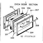 Kenmore 1037277660 oven door section diagram