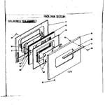 Kenmore 1196478111 oven door section diagram