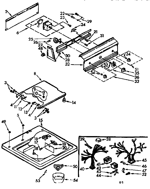Kenmore 11071670620 top and console assembly diagram