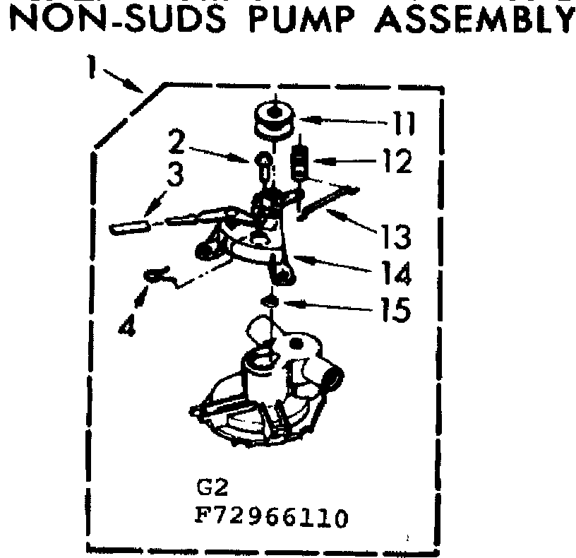 Kenmore 11073966410 non-suds pump assembly diagram