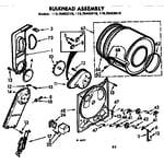 Kenmore 11076402610 bulkhead assembly diagram