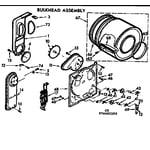 Kenmore 11076432600 bulkhead assembly diagram