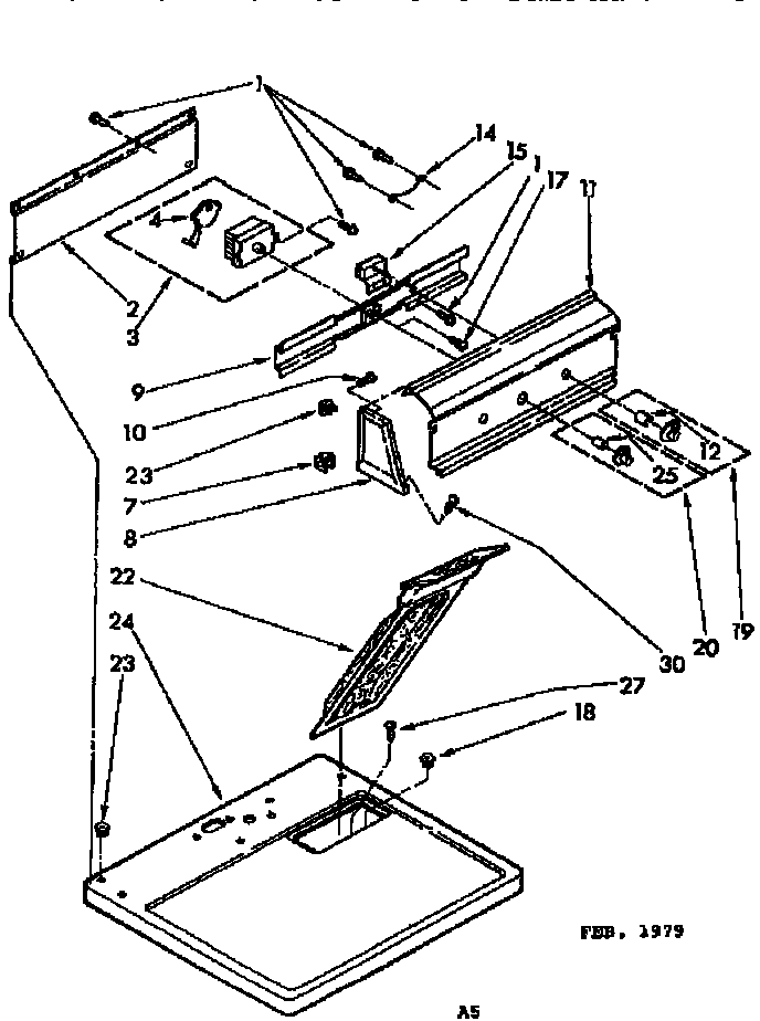 Kenmore 11076960110 top and console parts diagram