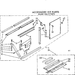 Kenmore 1067771870 accessory kit parts diagram