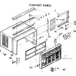 Kenmore 1067790540 cabinet parts diagram