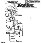 Kenmore 625342641 major assemblies and connecting parts diagram