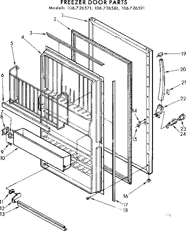 Kenmore  Coldspot Freezer  Door parts