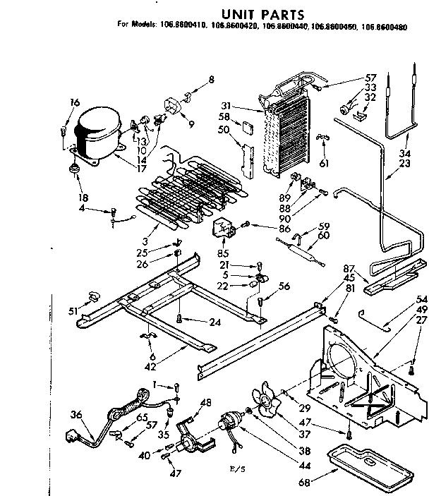 Kenmore Model 1068600480 Refrigerators Misc Genuine Parts