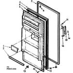 Kenmore 1068601270 door parts diagram