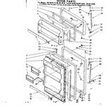 Kenmore 1068619260 door parts diagram