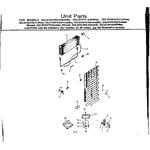 Kenmore 2538134163 unit parts diagram