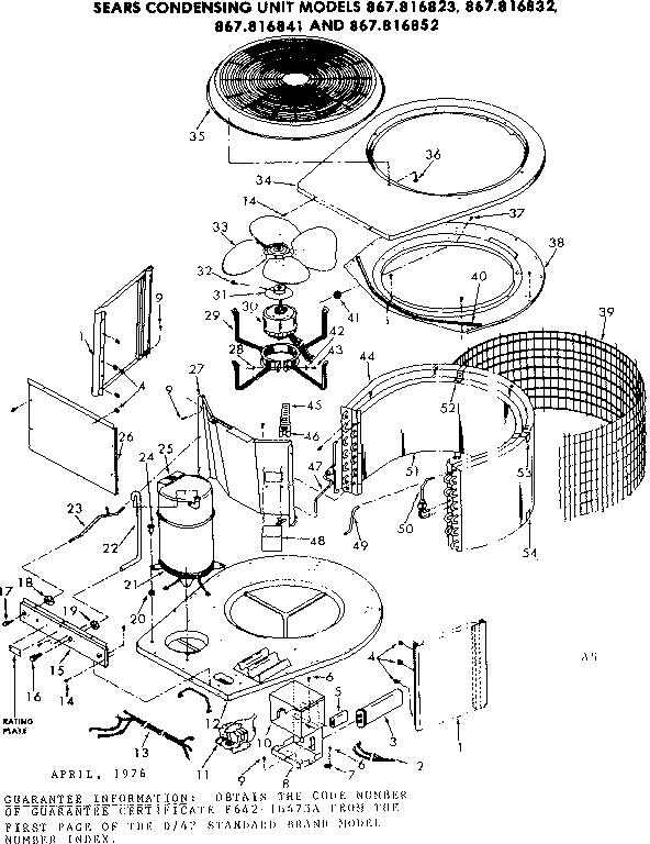 Kenmore Heat Pump Wiring Diagram : Kenmore sears conditioning condensing unit parts