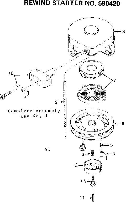 Craftsman 143624092 rewind starter diagram