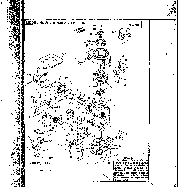 Craftsman 143257062 replacement parts diagram