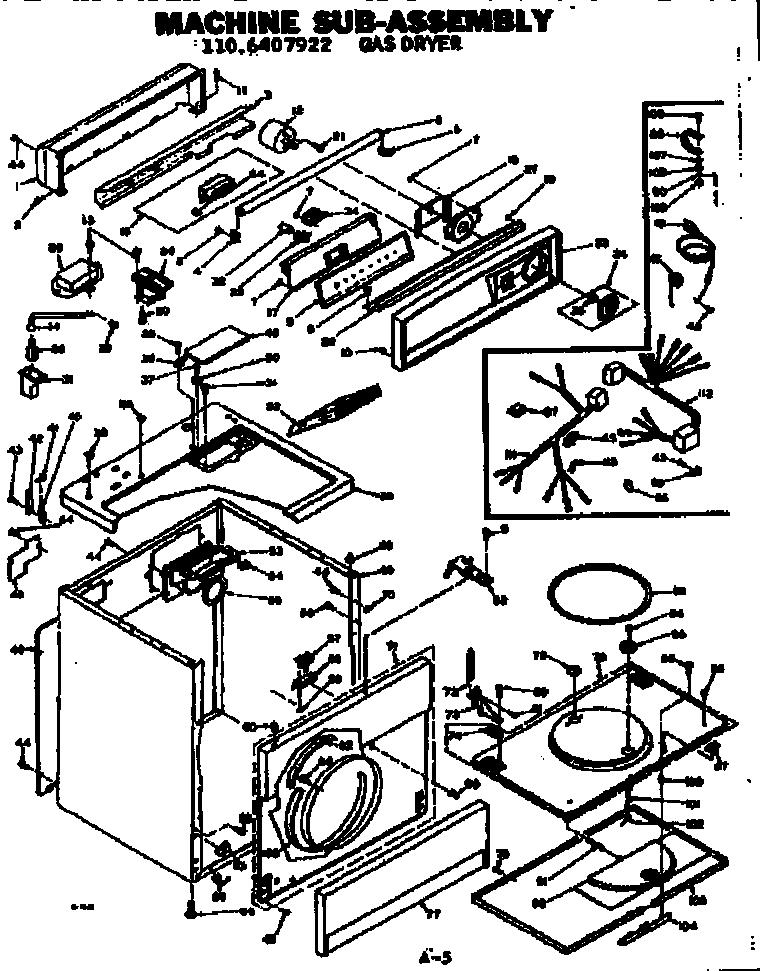 Kenmore  Kenmore Gas Dryer   Parts