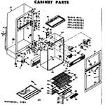 Kenmore 1066652501 cabinet parts diagram
