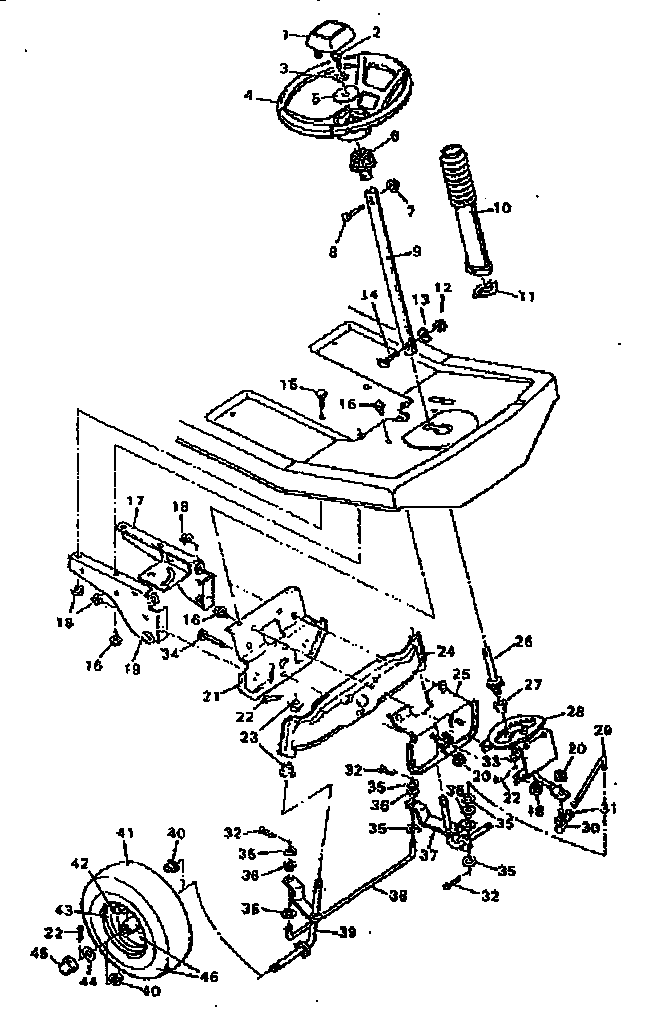 Craftsman 502255630 replacement parts steering system diagram