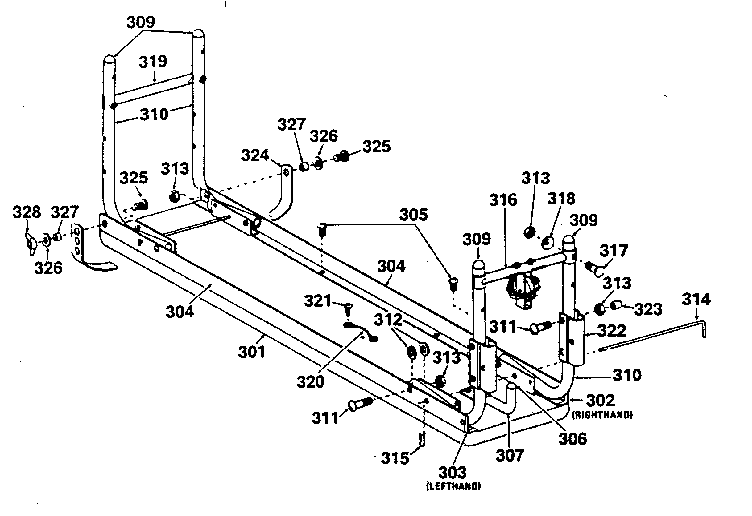 DP 15-2500 bench assembly diagram