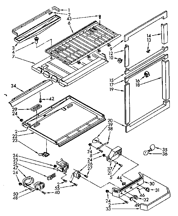 Kenmore 1068740821 breaker and partition parts diagram
