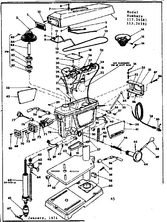 Craftsman  Craftsman Drill Press  Unit breakdown