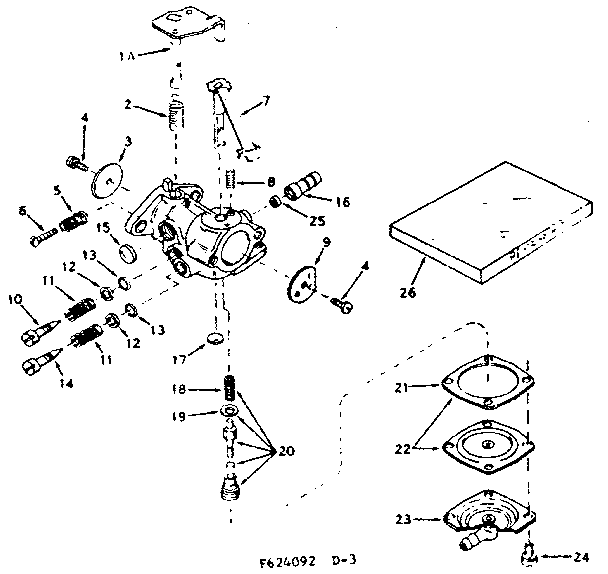 Craftsman 143624092 carburetor diagram