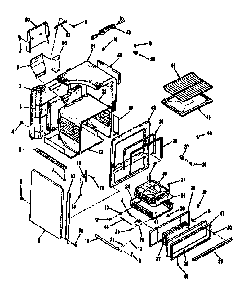 Kenmore 9113628610 body section diagram