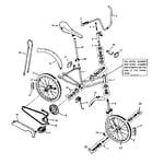 Sears 502479962 girl's hi rise bicycle diagram