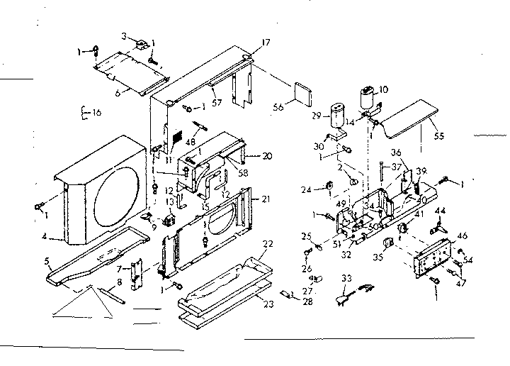 Kenmore  Coldspot Air Conditioner  Air flow parts