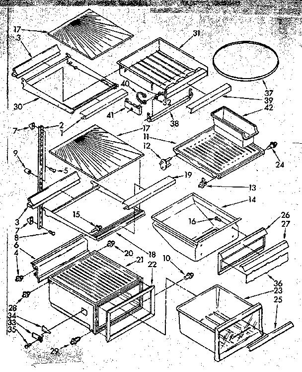 Kenmore  Refrigerator  Refrigerator interior parts