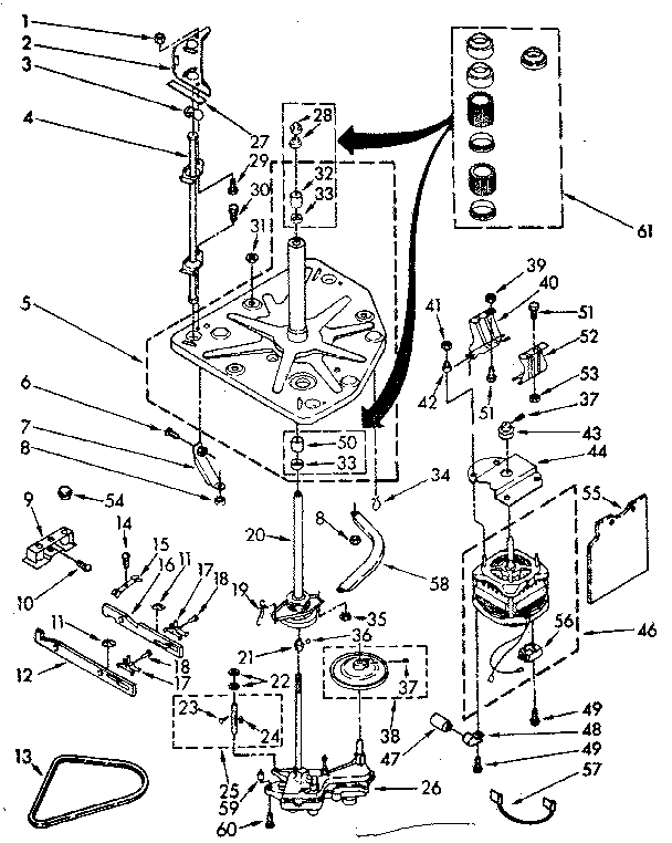 Kenmore 11082294300 limited edition drive parts diagram
