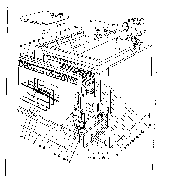 Kenmore 101921600 body section diagram
