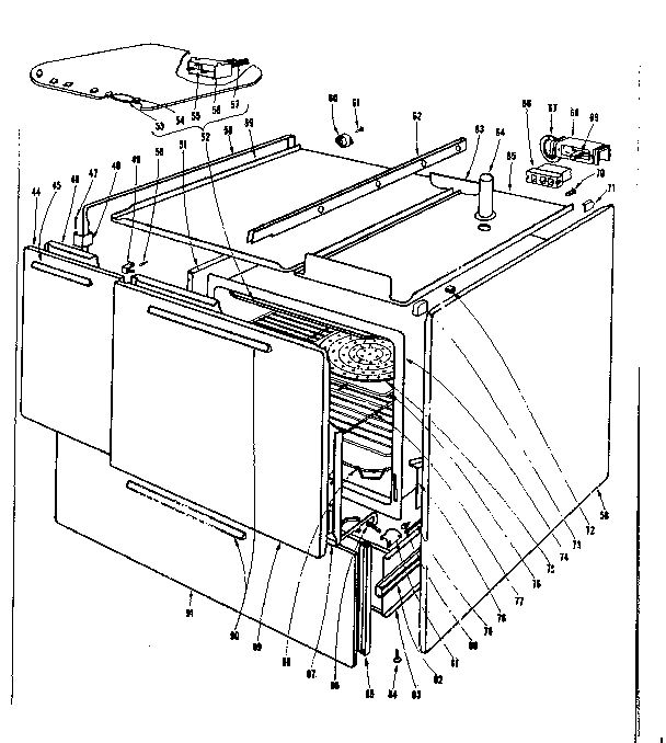 Kenmore 101933600 body section diagram