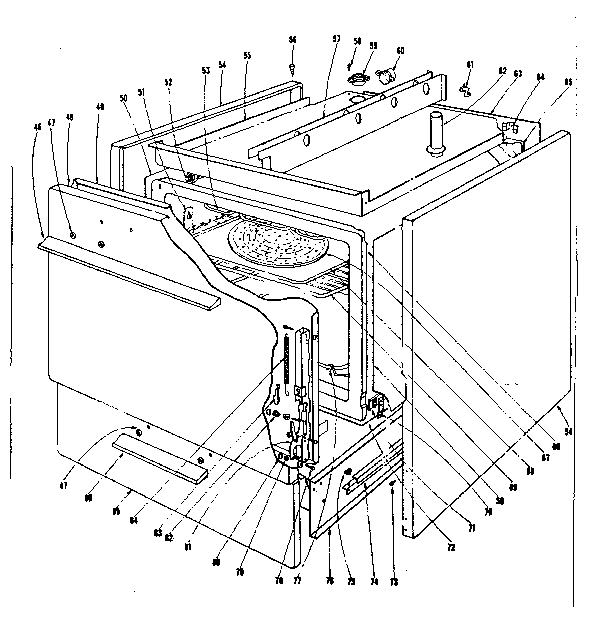 Kenmore 101934620 body section diagram