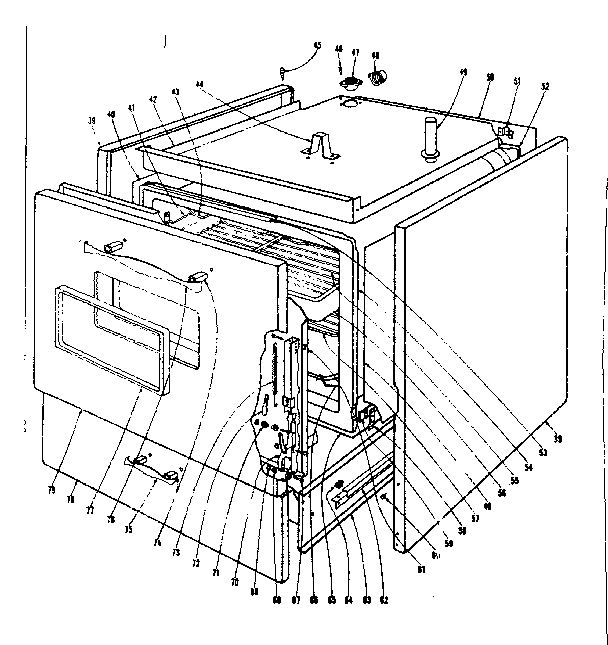 Kenmore 101936630 body section diagram