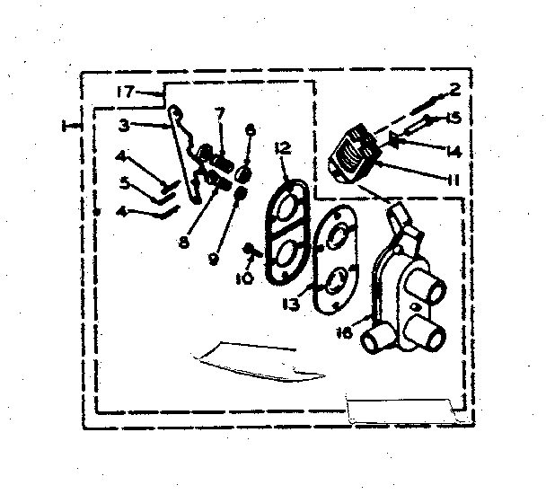 Kenmore 1106205704 two way valve assembly diagram