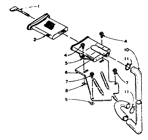 Kenmore 1105915450 filter assembly diagram