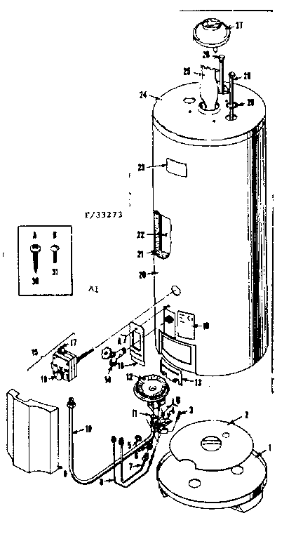 Kenmore 18333293 replacement parts diagram