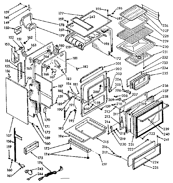 Kenmore 1037197060 body section diagram