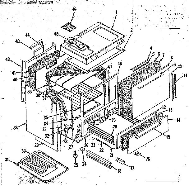 Kenmore 1197306730 body section diagram