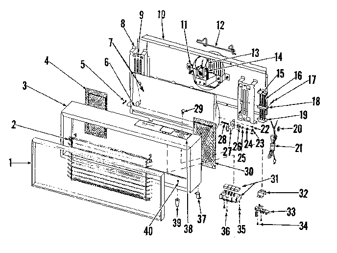 Kenmore 34471960 replacement parts diagram