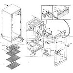 Kenmore 106M8A-F refrigerator cabinet parts diagram