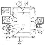 Kenmore 106M13ESL-F upper liner parts diagram