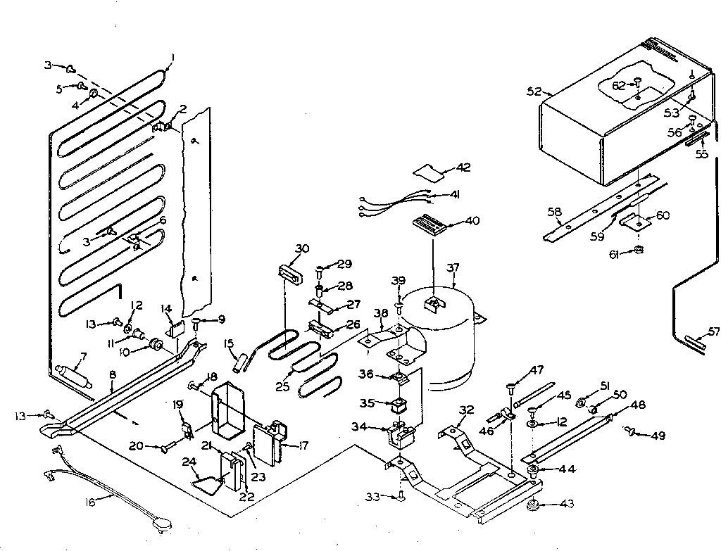East Coast Refrigeration Deland Fl  Kenmore Cold Spot Refrigerator Model 106 Parts