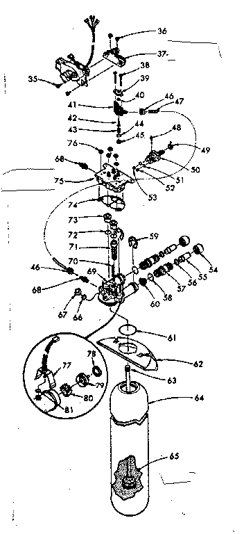 Kenmore 625340750 resin tank, valving and connecting parts diagram