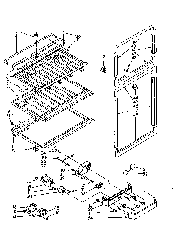 Kenmore 1068652711 breaker and partition parts diagram