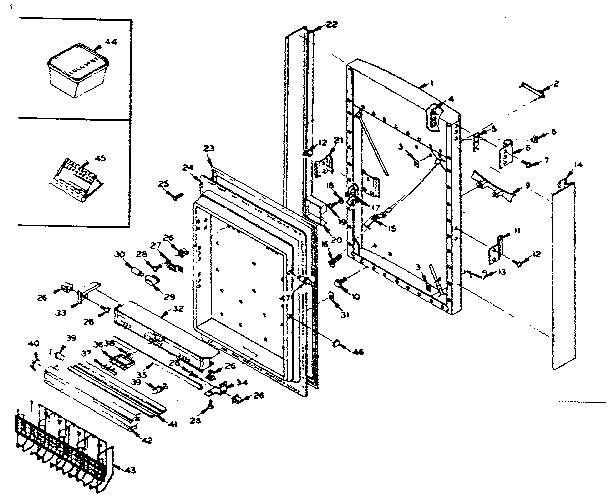 Kenmore  Coldspot Freezer  Freezer door parts